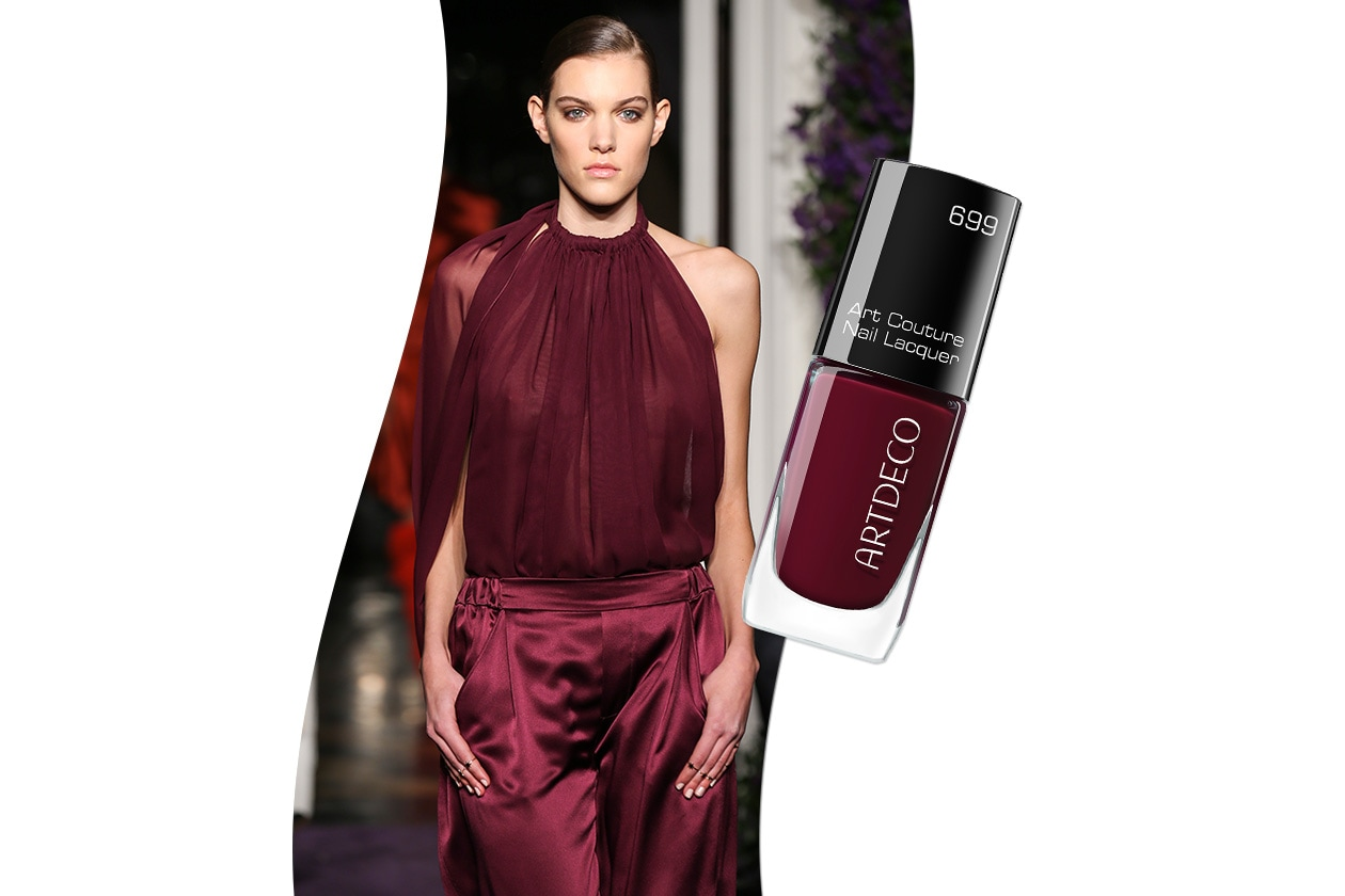 Sangria fashion & make up: JC Obando e Artdeco Art Couture Nail Lacquer Couture Mahogany 699