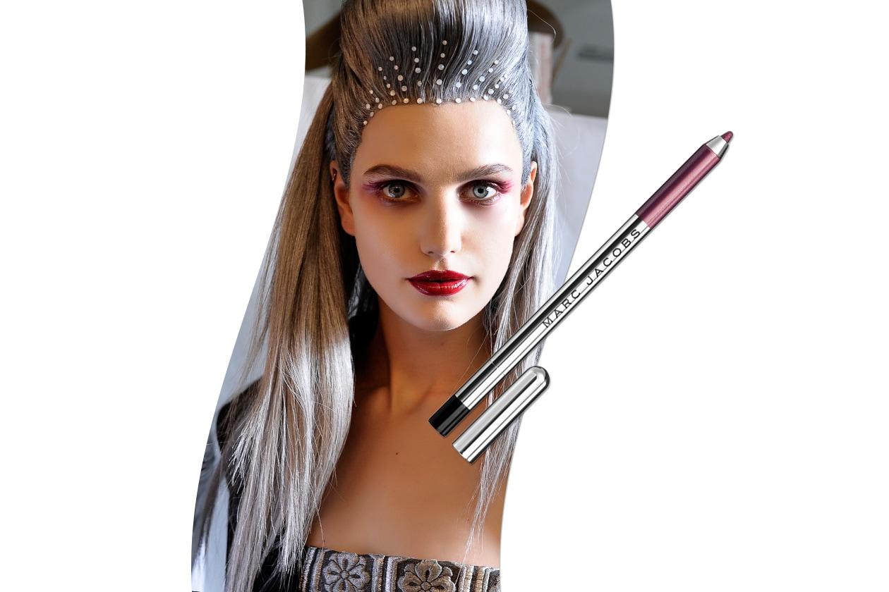 Sangria make up: Jean Paul Gaultier look e Marc Jacobs Highliner Raspberry Purple Shimmer