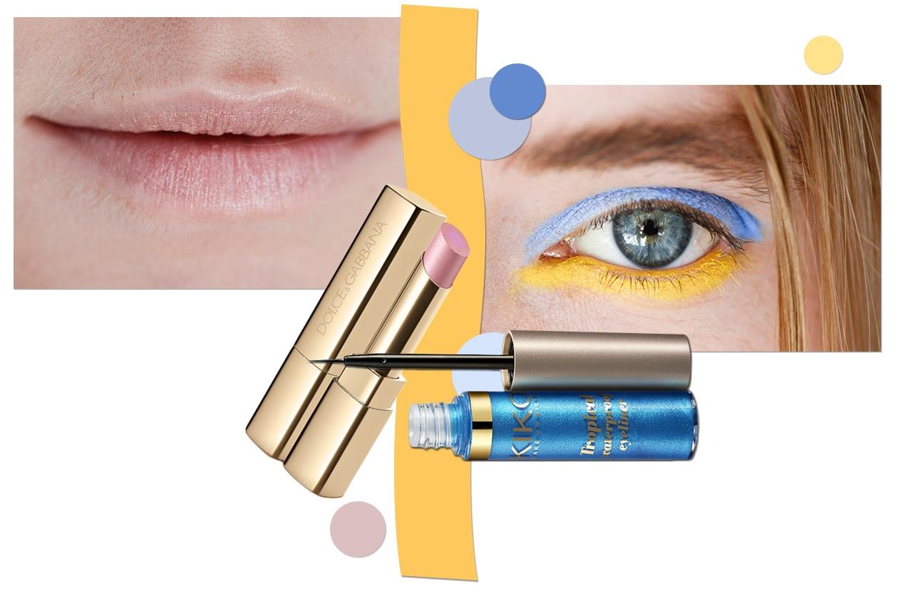 TROPICAL COLOR: il trucco ispirato ai colori dei tropici che mette in evidenza lo sguardo (Dolce&Gabbana  – Kiko – Del Pozo)