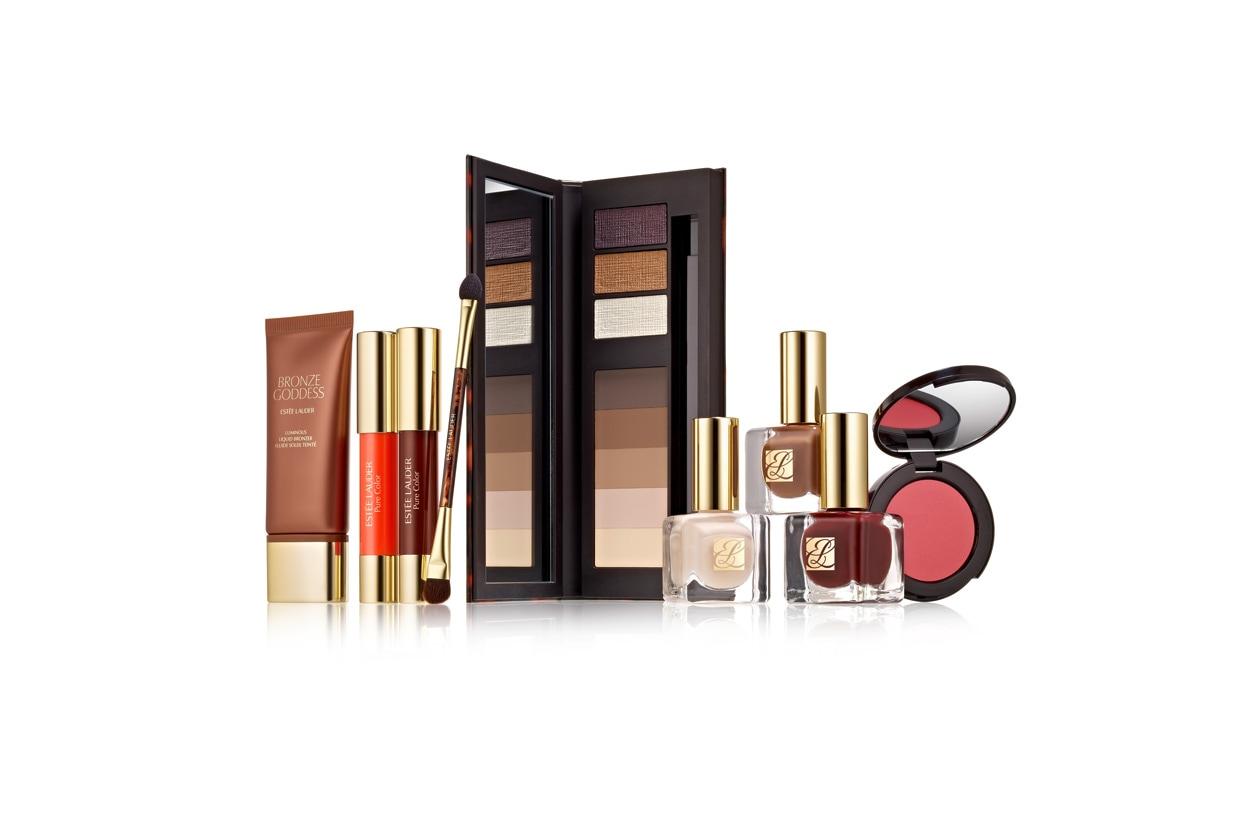 Tutte da mixare le nuance nude solari e metalliche della Pure Color 8-Pan Eyeshadow Palette di Estée Lauder