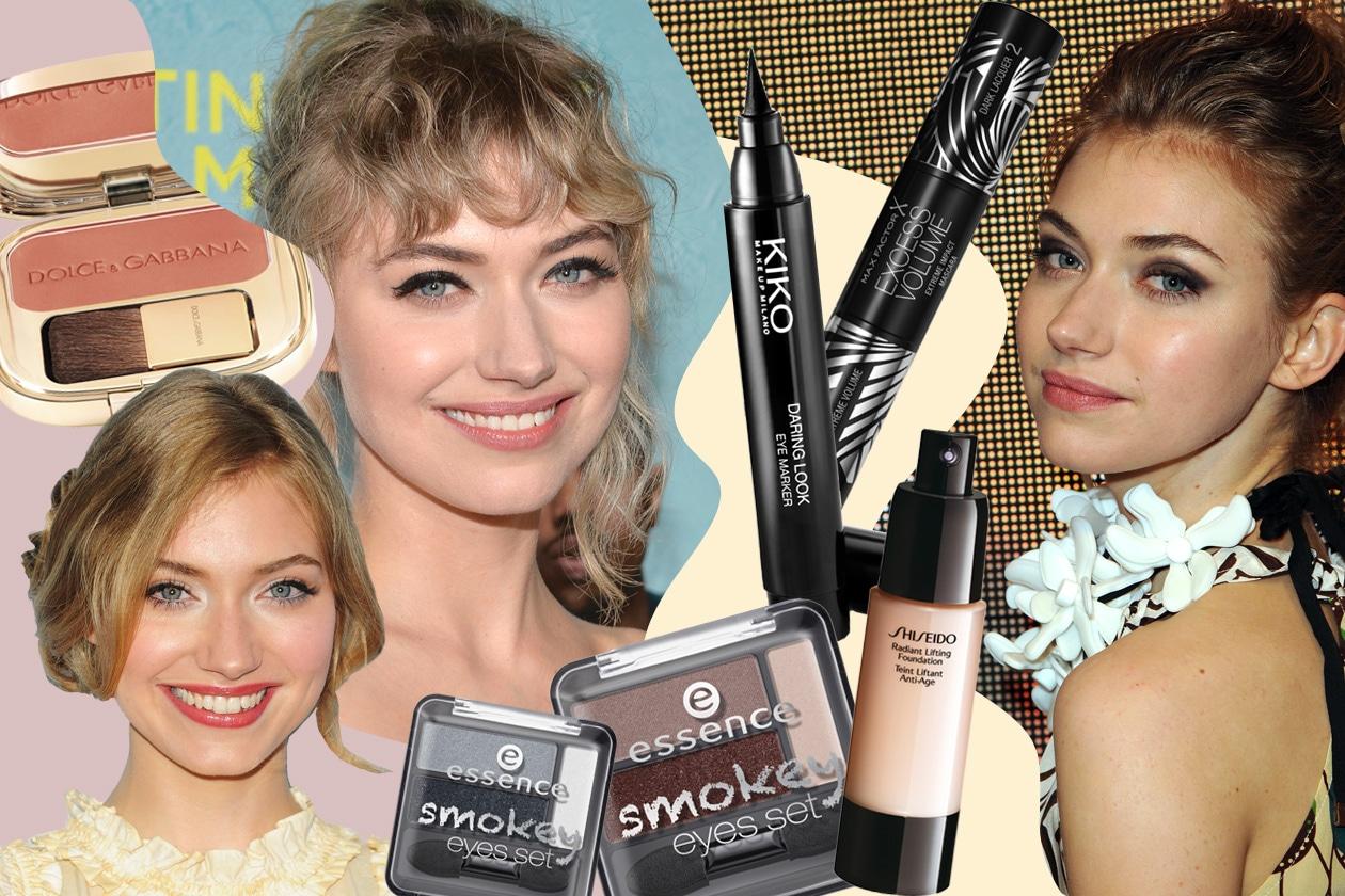 Imogen Poots beauty look: sguardo smokey e labbra al naturale