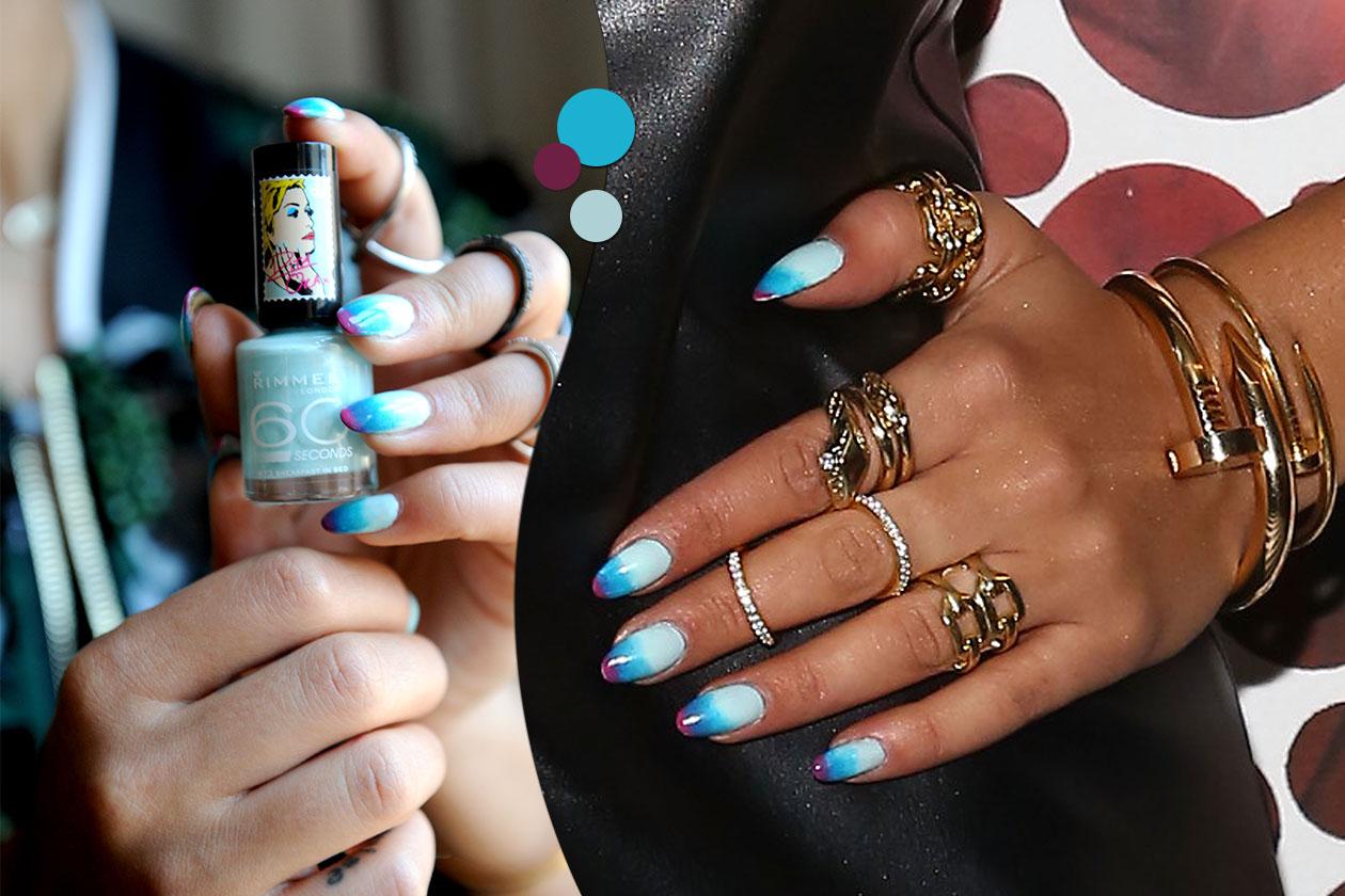 Beauty Rita Ora 2 bicolor bianco azzurro