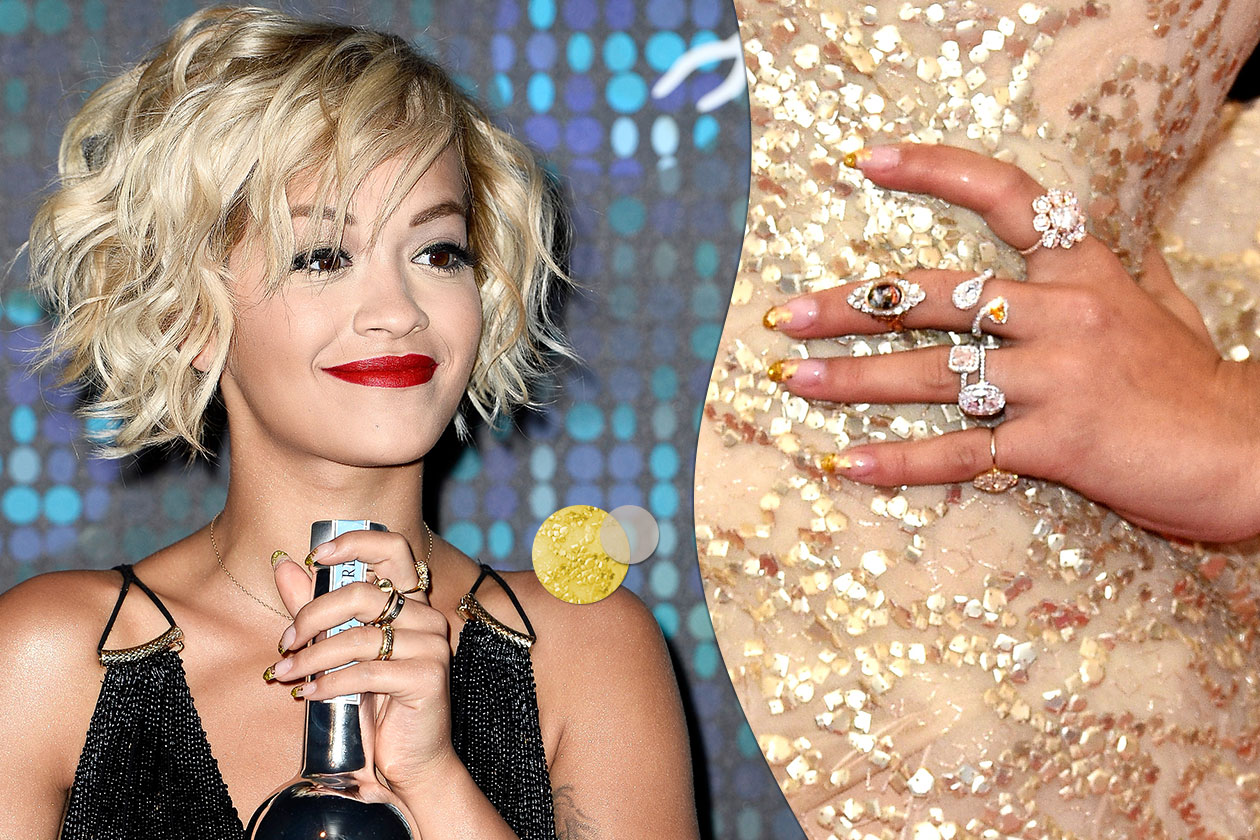 Beauty Rita Ora 5 bicolor trasp oro