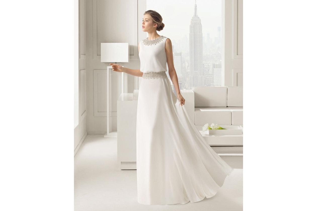vestido de novia rosa clara 81109
