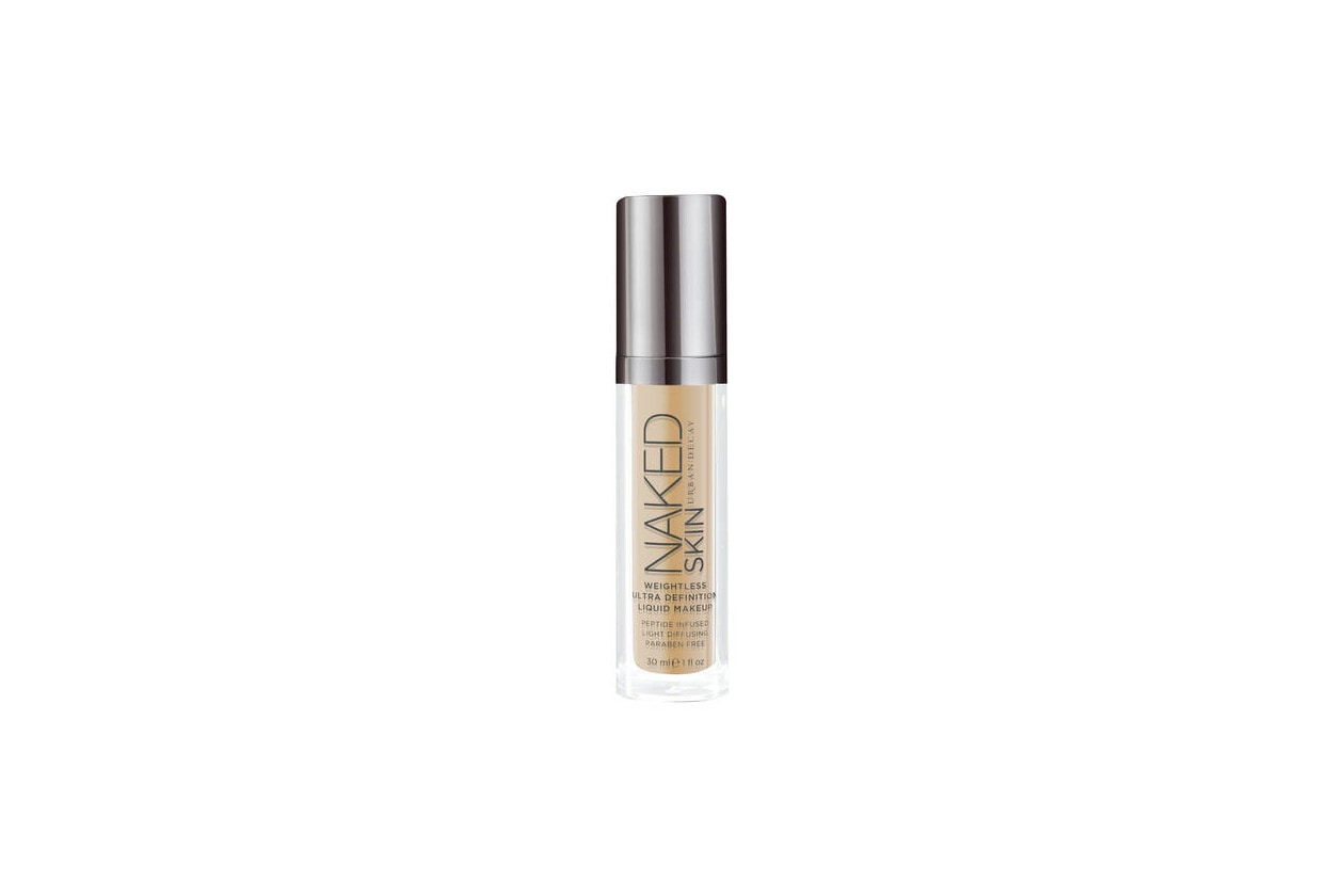5 UD naked skin weightless ultra definition liquid makeup