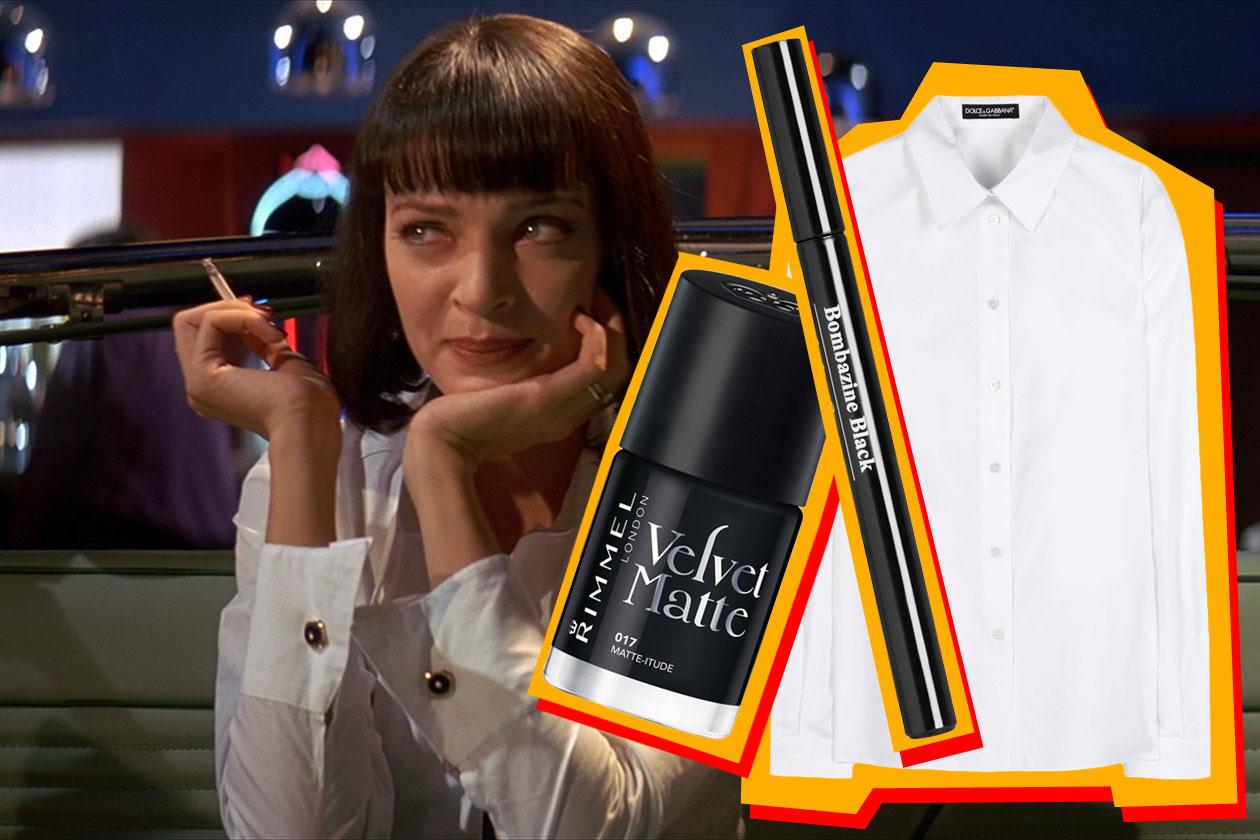 BLACK&WHITE ATTITUDE: al Jack Rabbit Slim's Mia indossa una semplice camicia con pantaloni neri, ma dietro questo outfit discreto si nasconde una donna decisamente audace