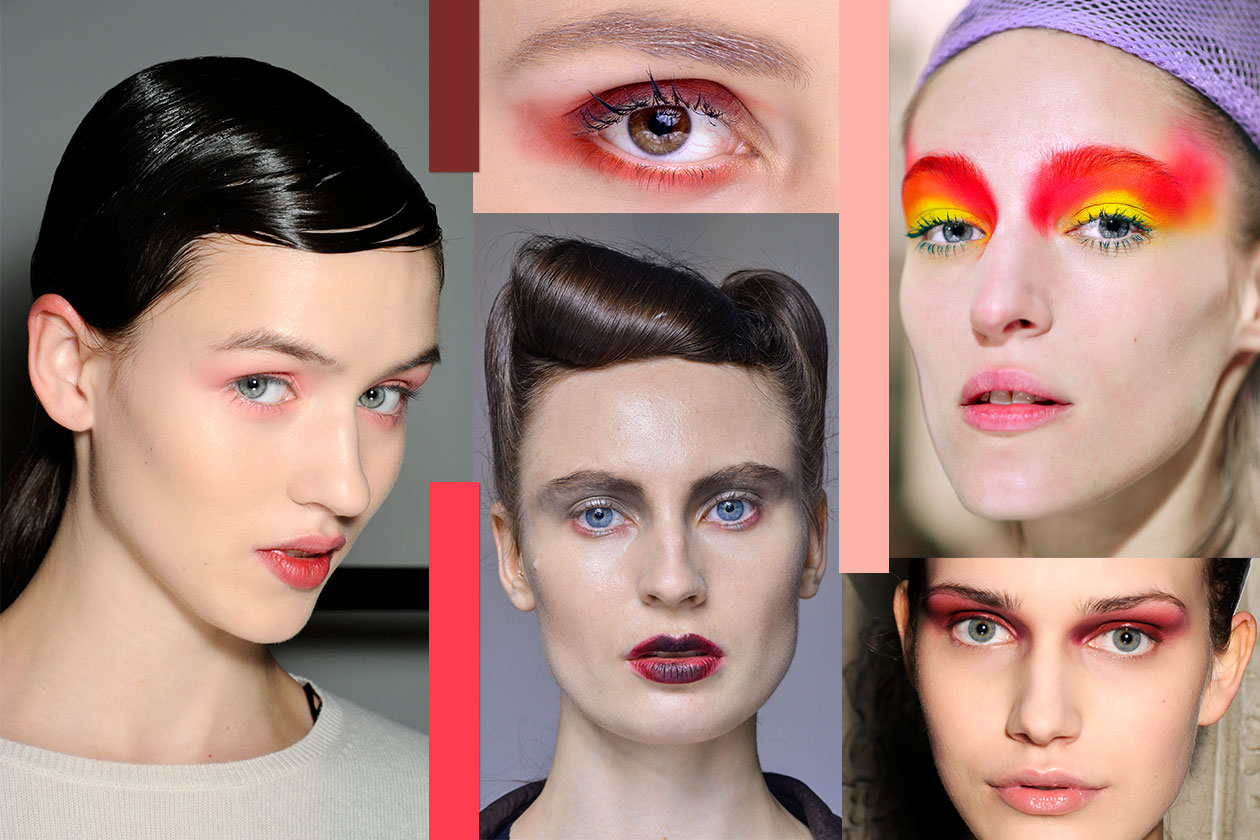 Beauty sfumature rosso make up occhi AI 00 Cover collage