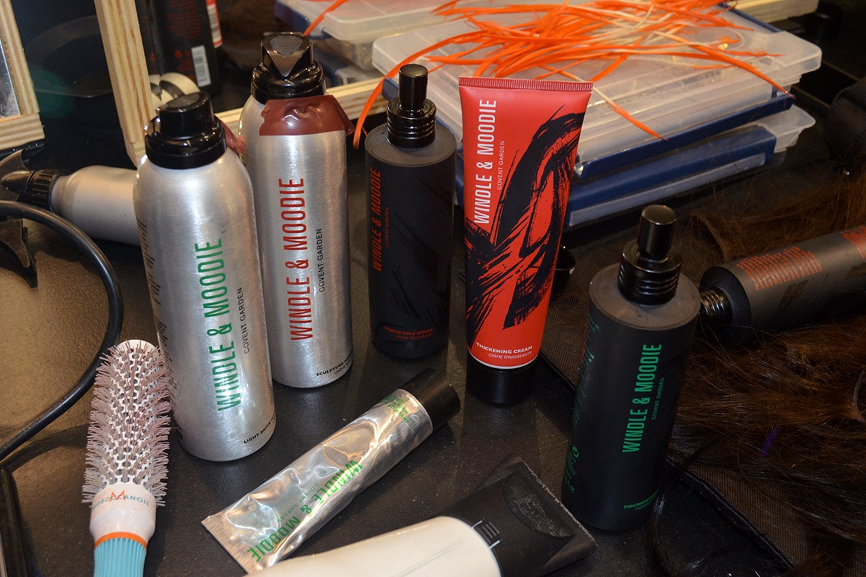 I prodotti usati per i capelli
