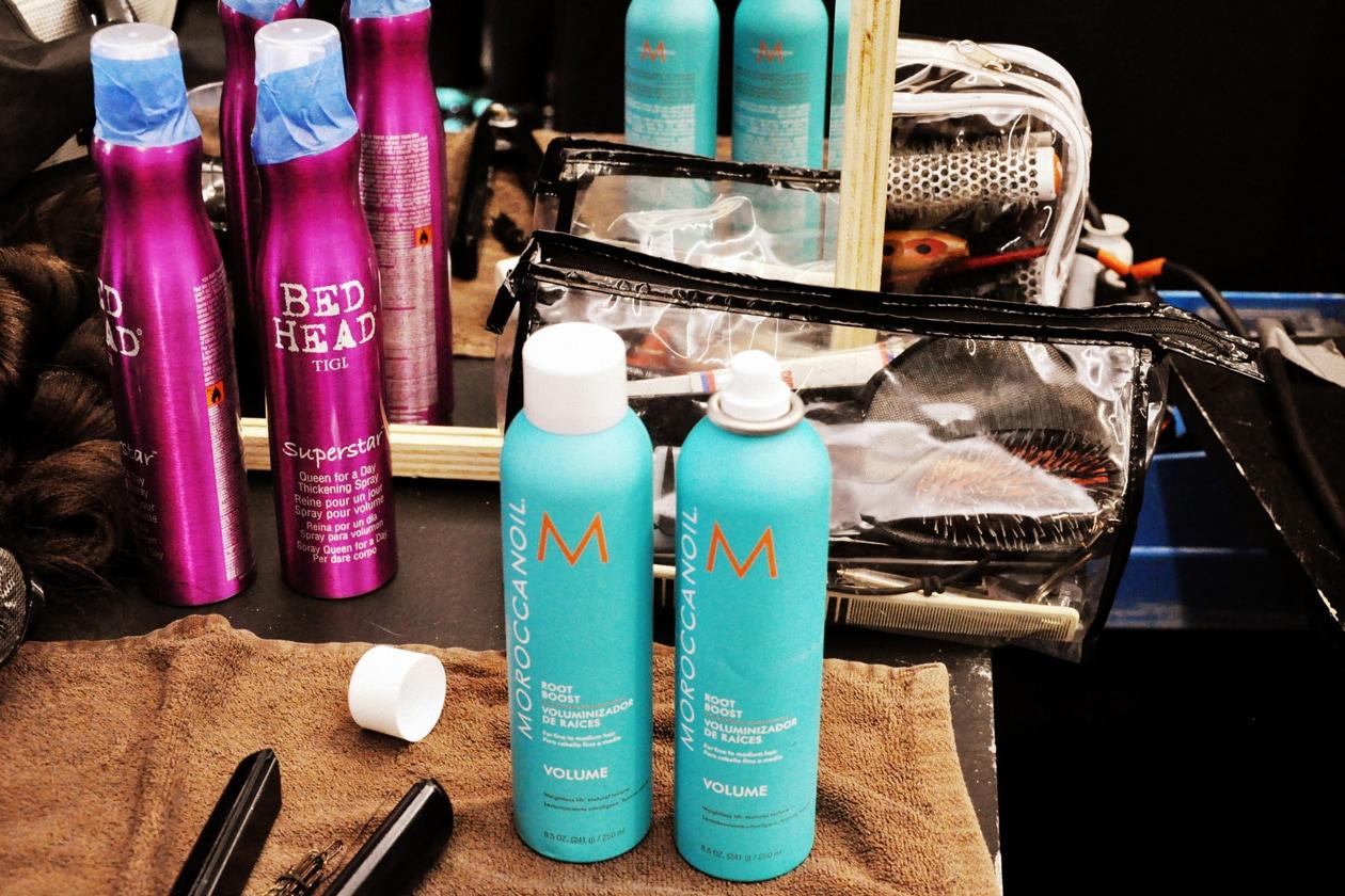 I prodotti usati per l'hair styling