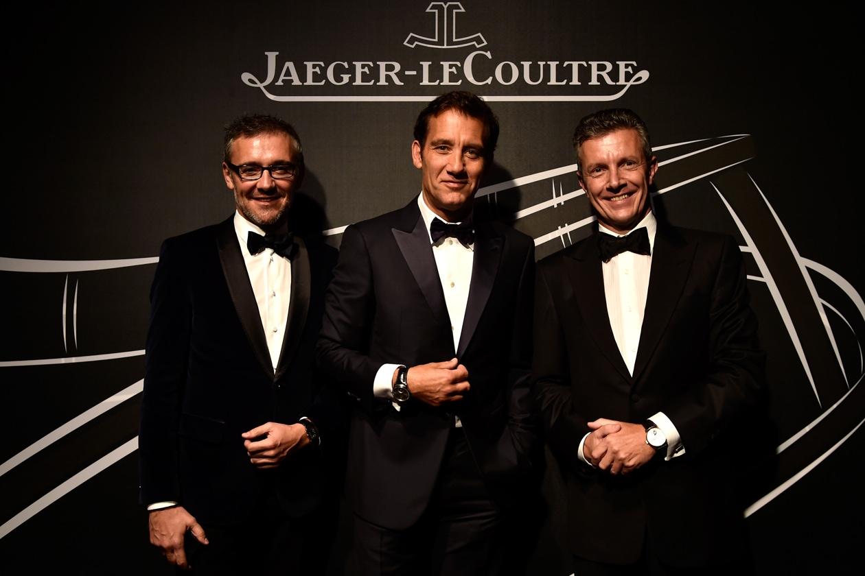 Laurent+Vinay,+Clive+Owen,+CEO+Daniel+Riedo Jaeger LeCoultre+Gala+Dinner+Venice+2014 Getty