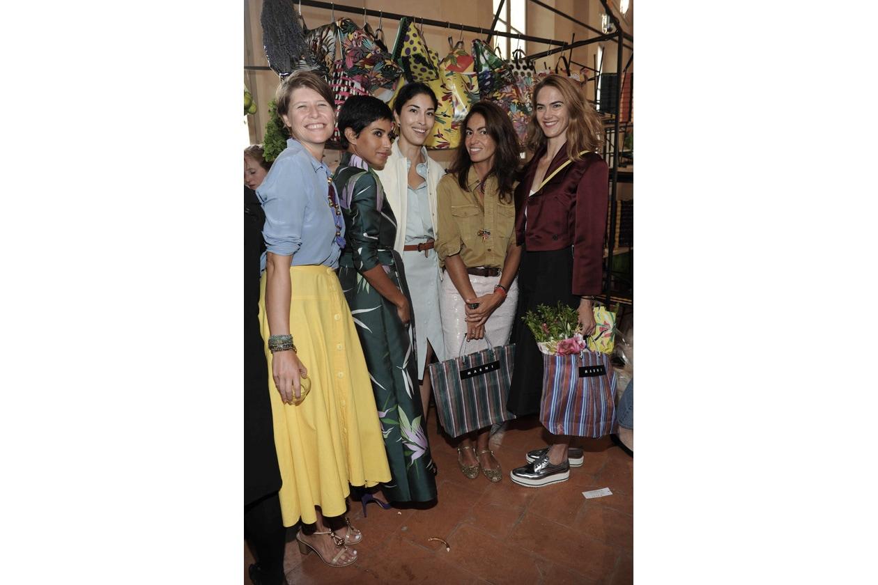 MARNI FLOWER MARKET Elisa Nalin, Princess Deena Aljuhani Abdulaziz, Caroline Issa, Viviana Volpicella and J.J