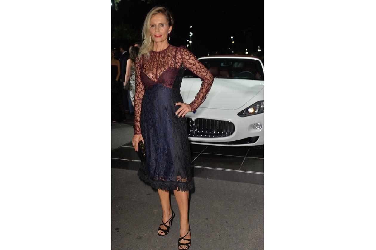 """Maserati partner ufficiale della mostra """"Vogue Archive Celebrating 50th Anniversary of Fashion"""" Isabella Ferrari"""
