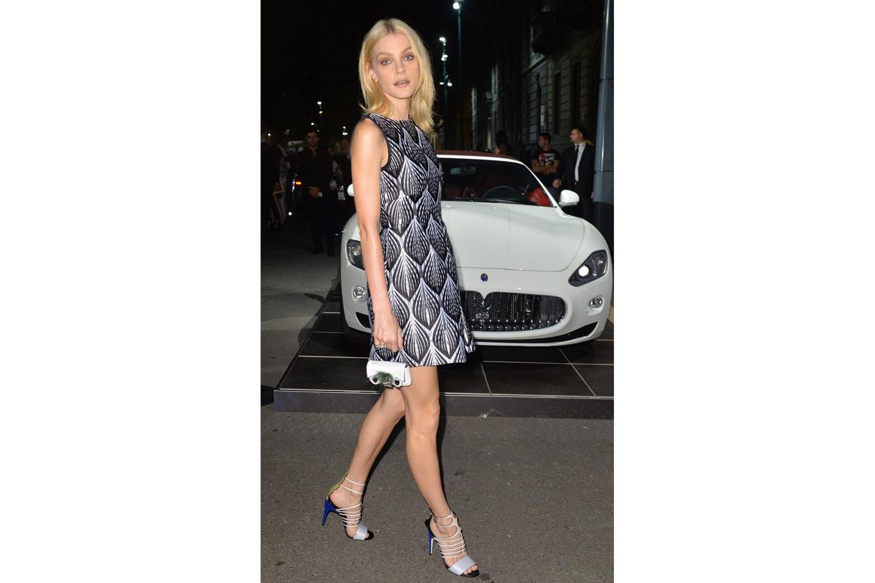 """Maserati partner ufficiale della mostra """"Vogue Archive Celebrating 50th Anniversary of Fashion"""" Jessica Stam"""