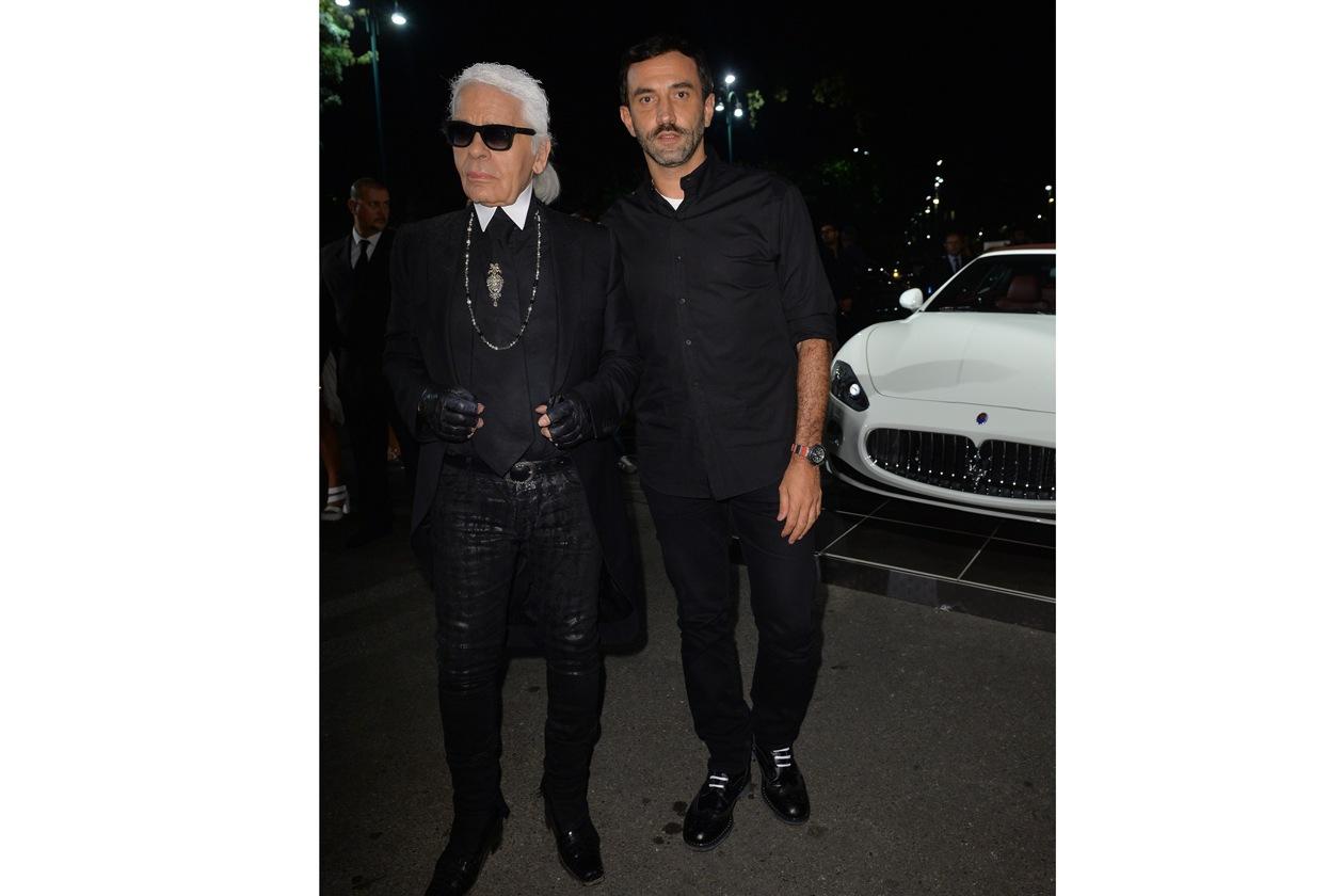 """Maserati partner ufficiale della mostra """"Vogue Archive Celebrating 50th Anniversary of Fashion"""" Karl Lagerfeld, Riccardo Tisci"""