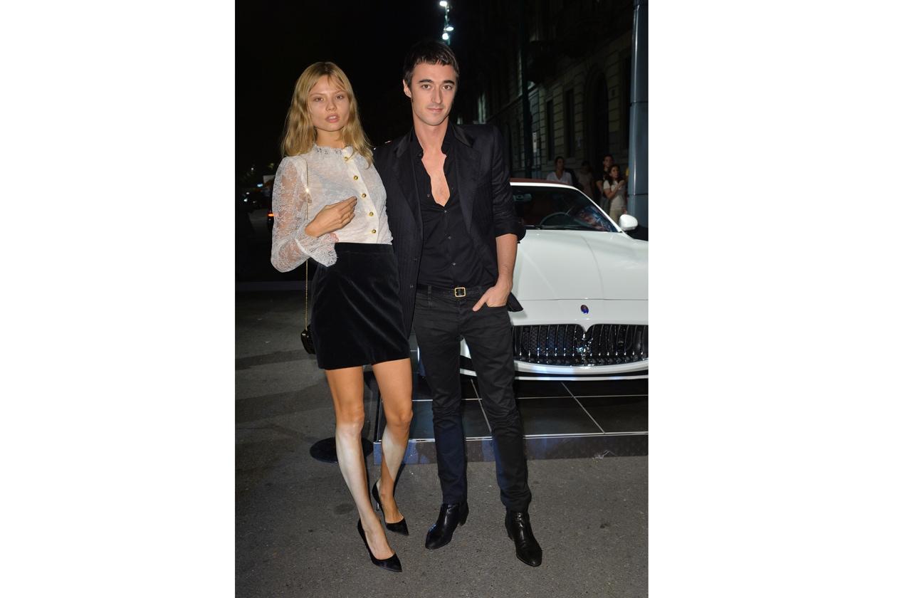 "Maserati partner ufficiale della mostra ""Vogue Archive Celebrating 50th Anniversary of Fashion"" Magdalena Frackowiak, Daniele Cavalli"