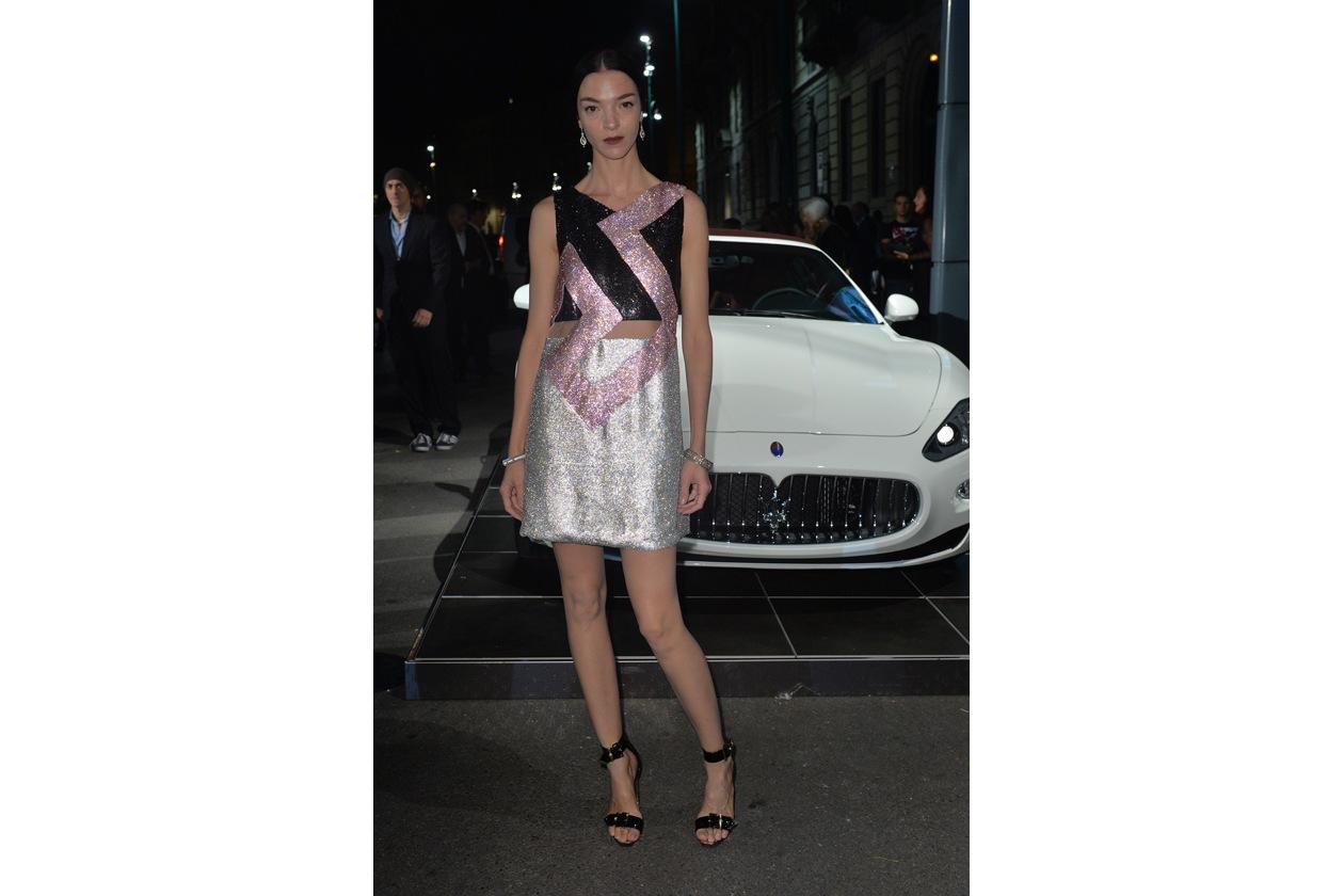 """Maserati partner ufficiale della mostra """"Vogue Archive Celebrating 50th Anniversary of Fashion"""" Mariacarla Boscono"""