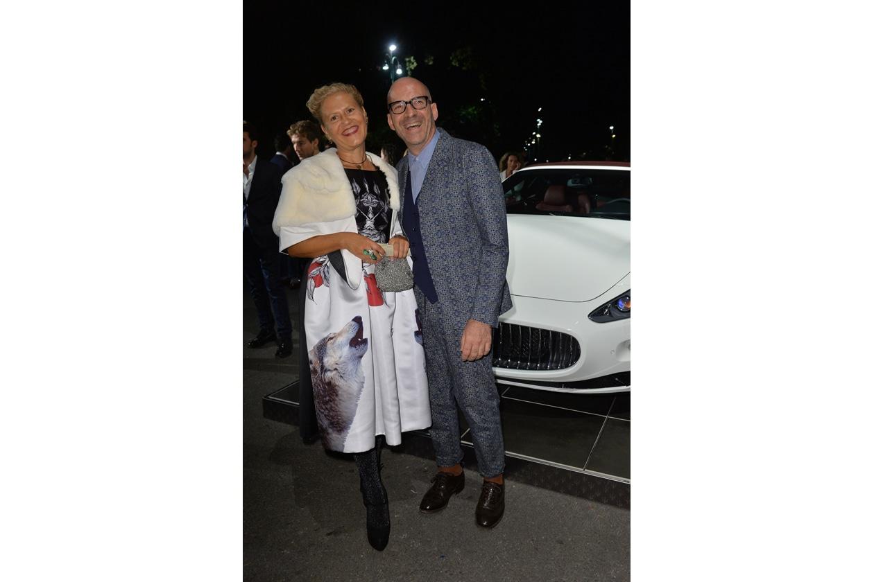 """Maserati partner ufficiale della mostra """"Vogue Archive Celebrating 50th Anniversary of Fashion"""" Patrizia Marras, Antonio Marras"""