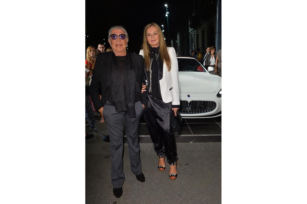 """Maserati partner ufficiale della mostra """"Vogue Archive Celebrating 50th Anniversary of Fashion"""" Roberto Cavalli, Eva Cavalli"""
