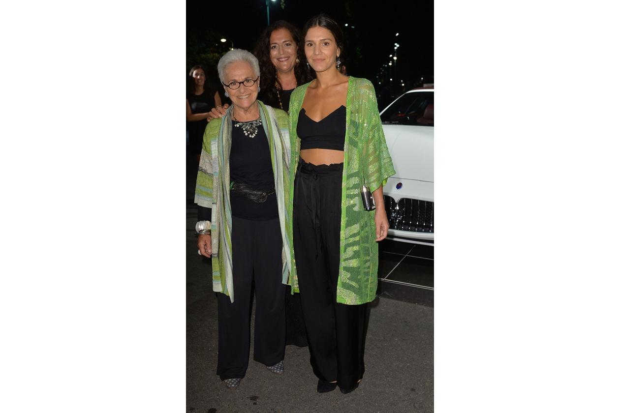 """Maserati partner ufficiale della mostra """"Vogue Archive Celebrating 50th Anniversary of Fashion"""" Rosita Missoni, Angela Missoni, Margherita Missoni"""
