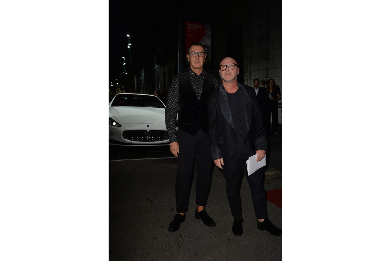"""Maserati partner ufficiale della mostra """"Vogue Archive Celebrating 50th Anniversary of Fashion"""" Stefano Gabbana, Domenico Dolce"""