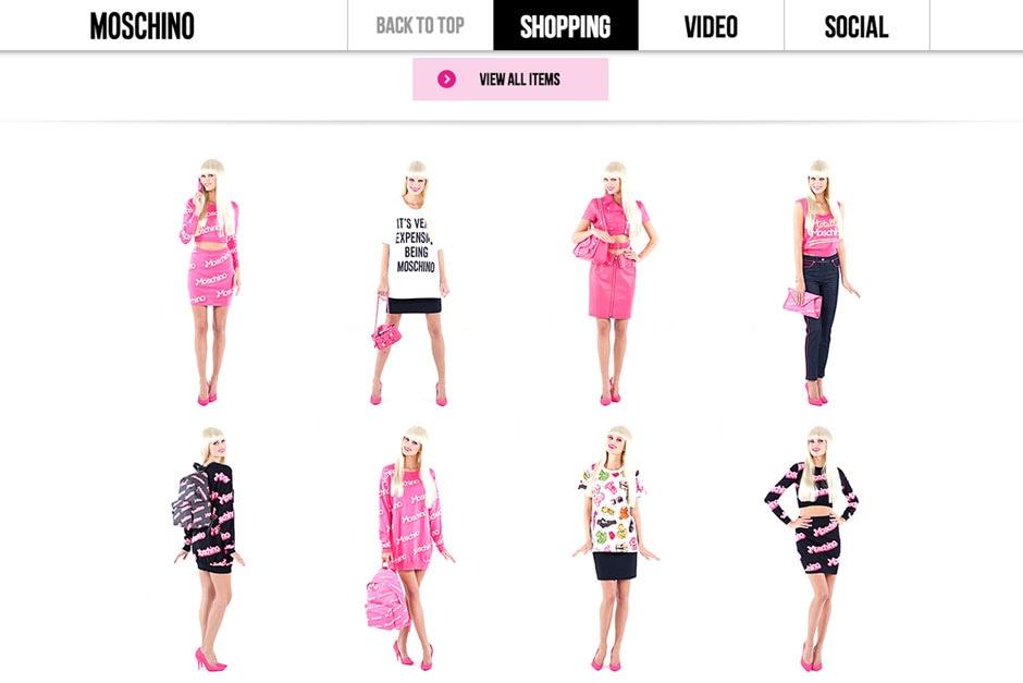 Moschino Barbie Shopping