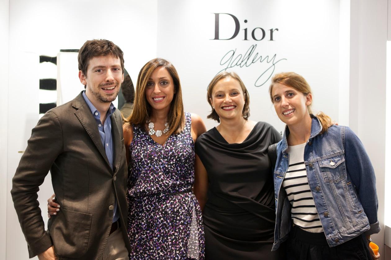 Nella foto: Dario Beato, Ada Ginestra, Carlotta Zavaglia e Oliva Bonnaud di Dior