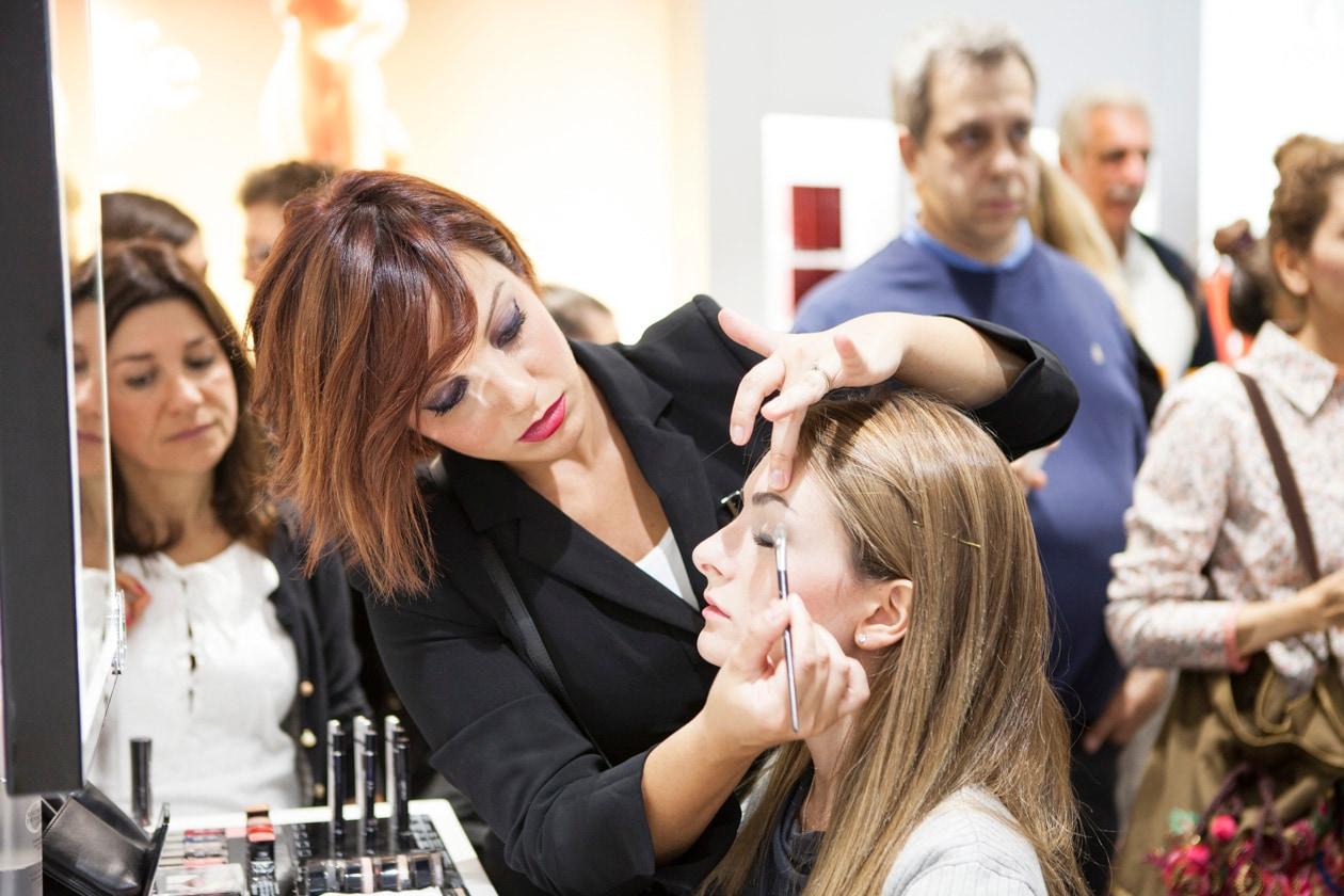 Oltre al celebre jus gli invitati hanno potuto scoprire il mondo del make up by Dior per un trucco personalizzato. We love it!