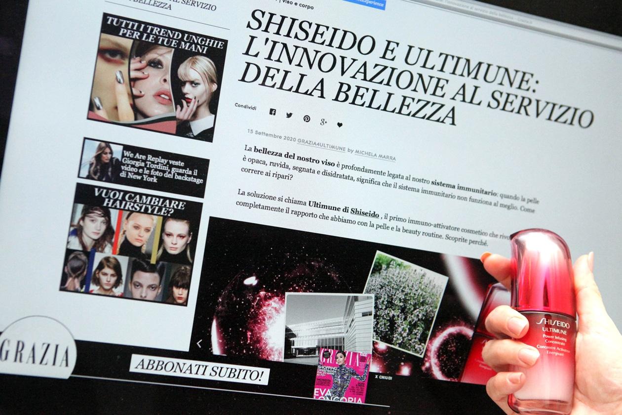 Shiseido &Grazia.it: un binomio di bellezza