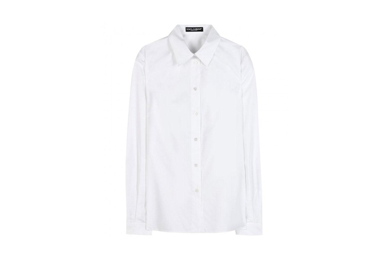 Simile alla camicia di Mia la Silk and cotton blend shirt di Dolce & Gabbana