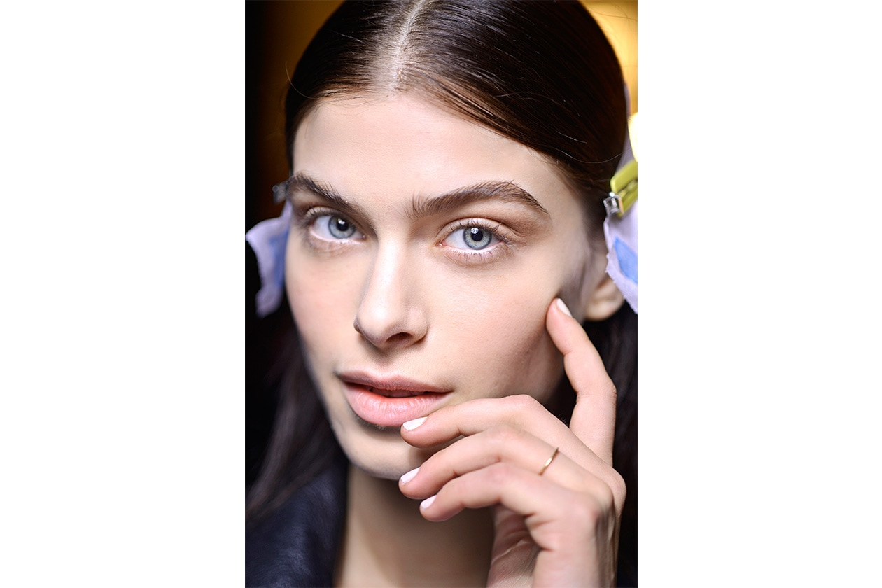 The white manicure by Prabal Gurung