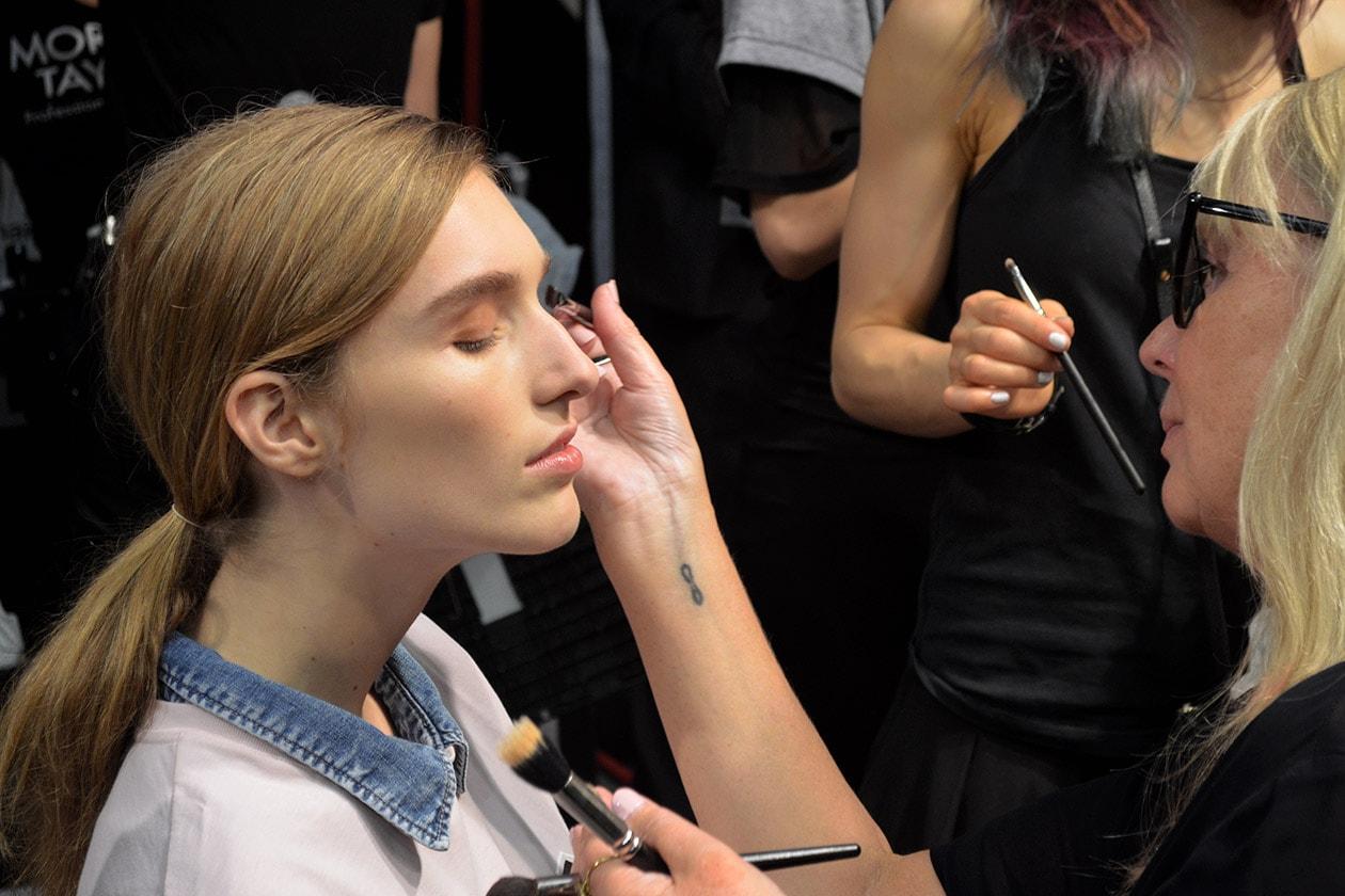 Val Garland ha curato il make up nel backstage di MSGM