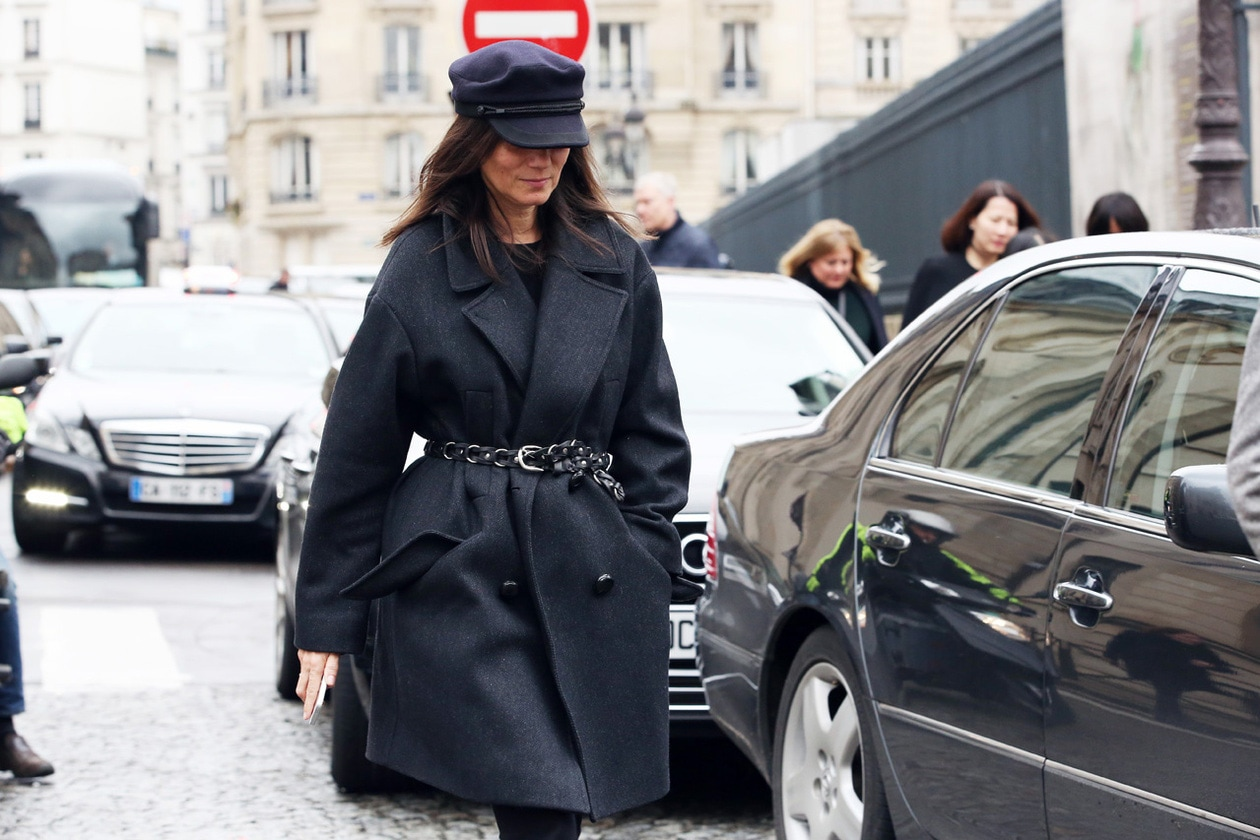 emmanuelle alt paris fashion week street style look marzo 2014 hg temp2 l full l