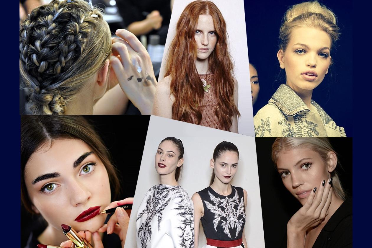 Tendenze dalla Milano Fashion Week: trucco, capelli e unghie primavera/estate 2015