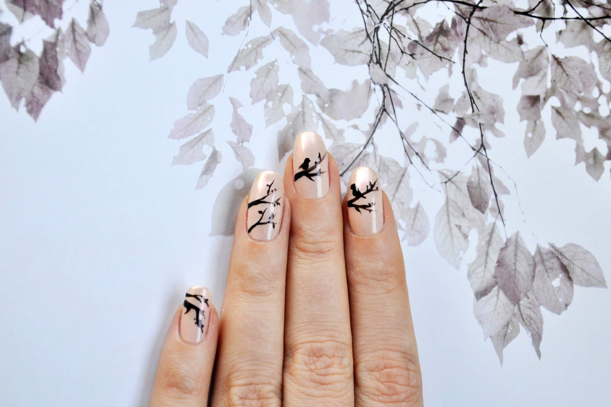 03 Pink Forest Nail Art