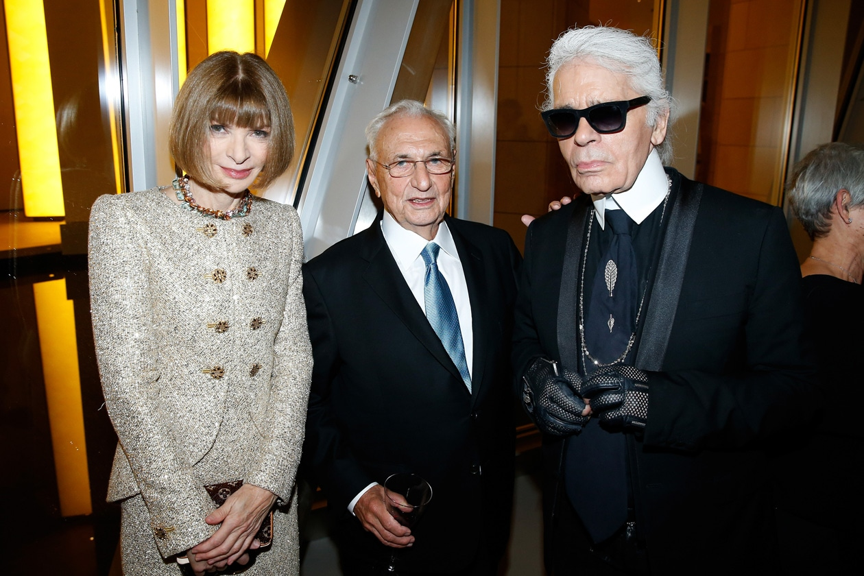 Anna Wintour Frank Gehry Karl Lagerfeld