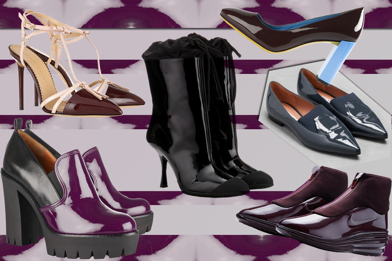 COVER glossy shoes
