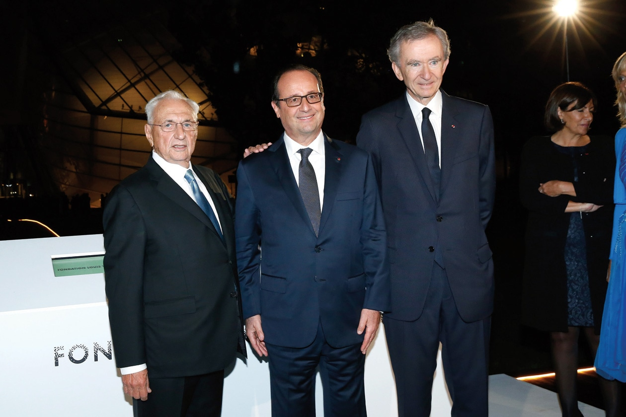 Frank Gehry Francois Hollande Bernard Arnault