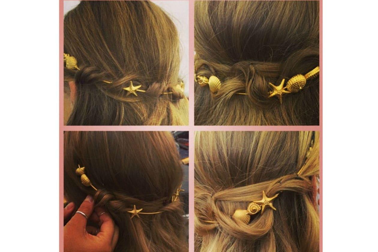 Hairdo eleganti arricchiti con accessori (Valentino)