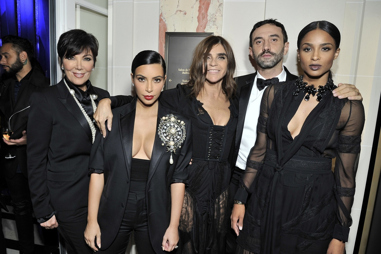 Kris Jenner & Kim Kardashian & Carine Roitfeld & Riccardo Tisci & Ciara 1