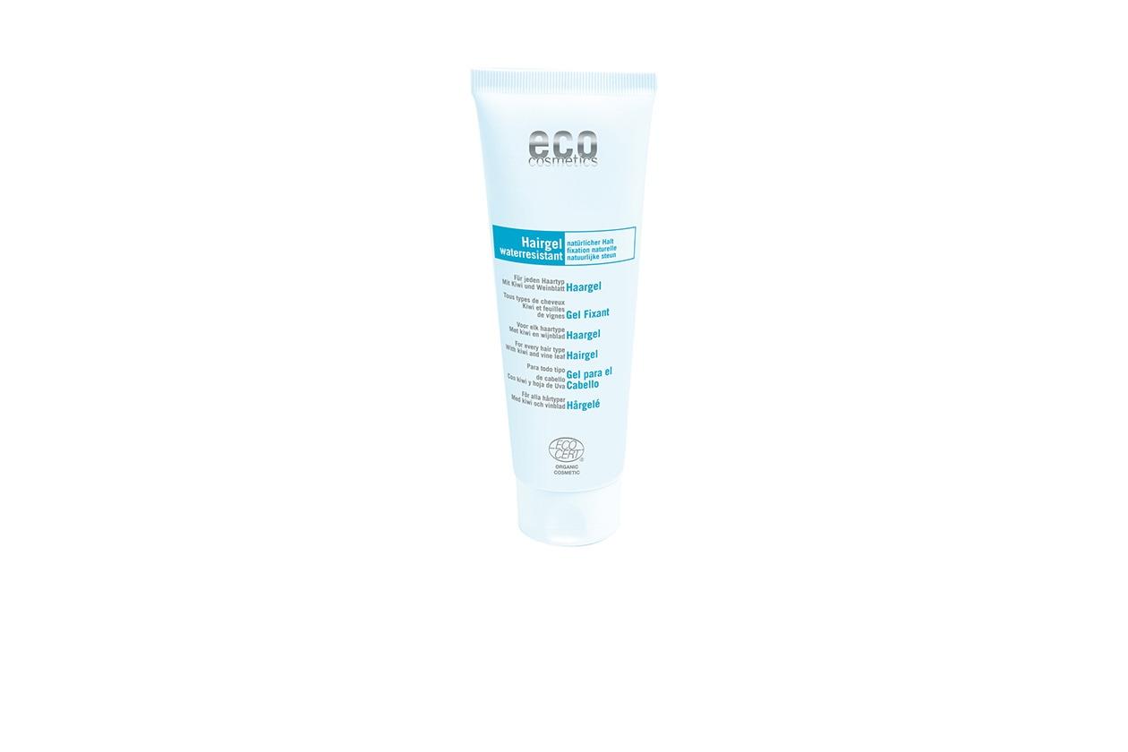 PER CREARE L'EFFETTO BAGNATO: Hair Gel Water Resistent Eco Cosmetics contiene una combinazione di estratti di tiglio, di kiwi e olio di jojoba che rafforza i capelli