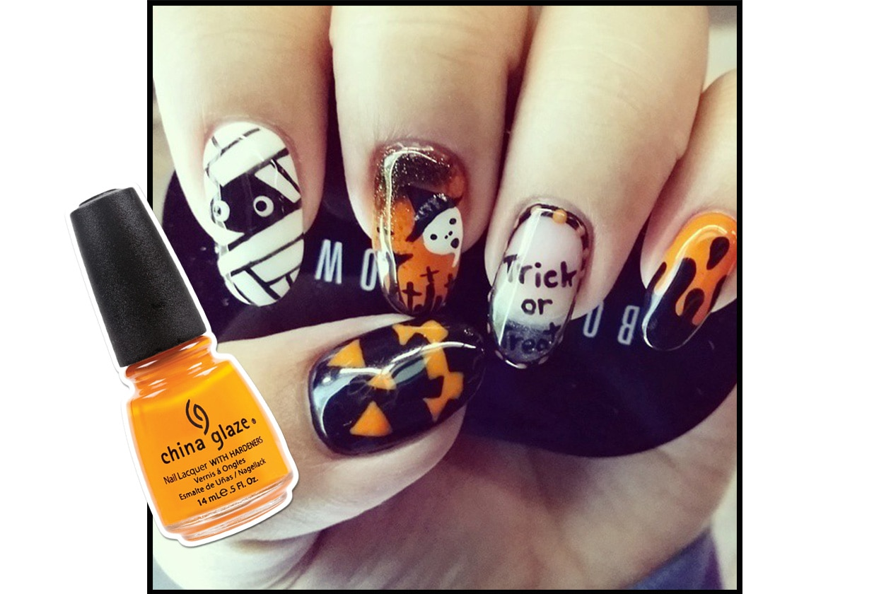 Spooky nails: It's Halloween night!