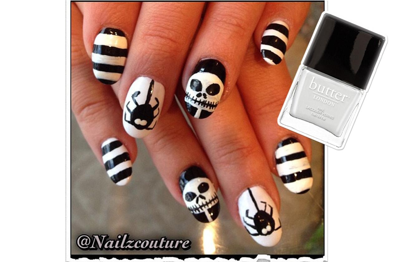 Spooky nails: black & white