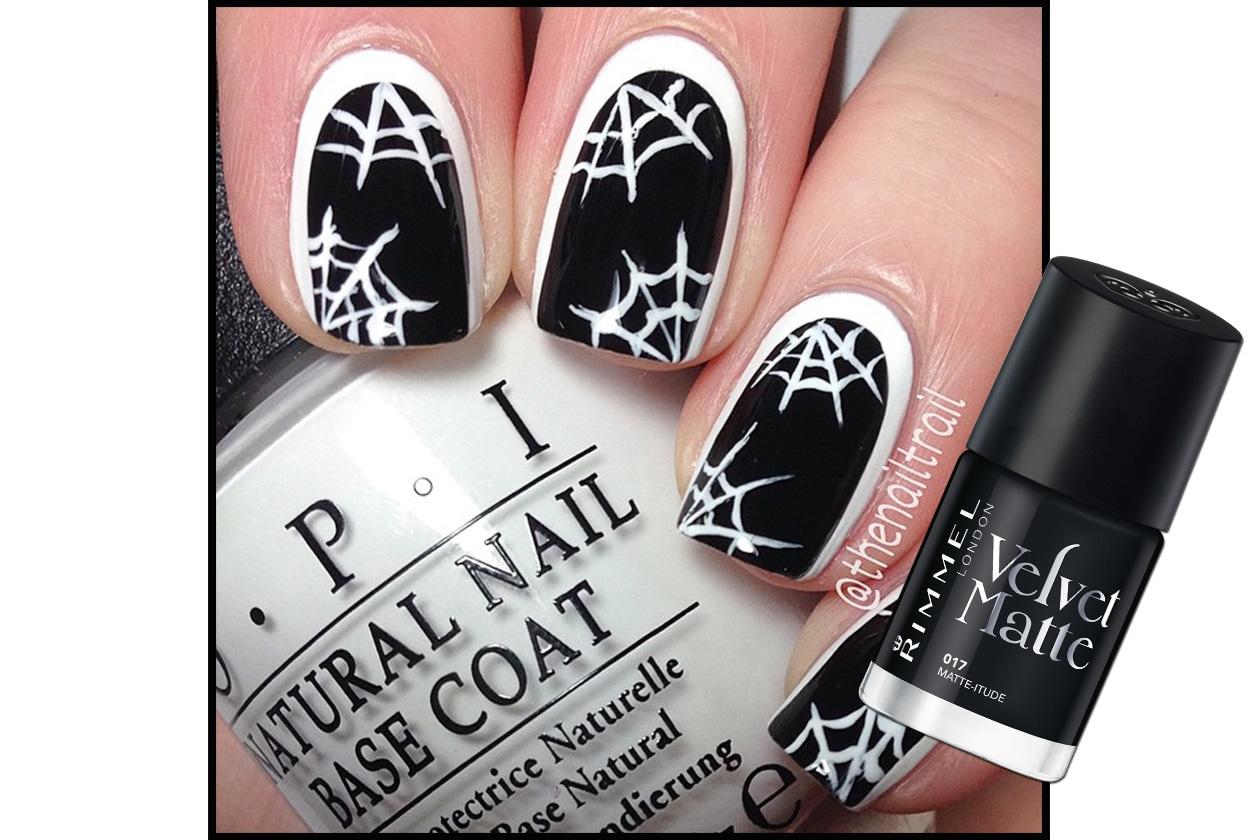 Spooky nails: reverse manicure