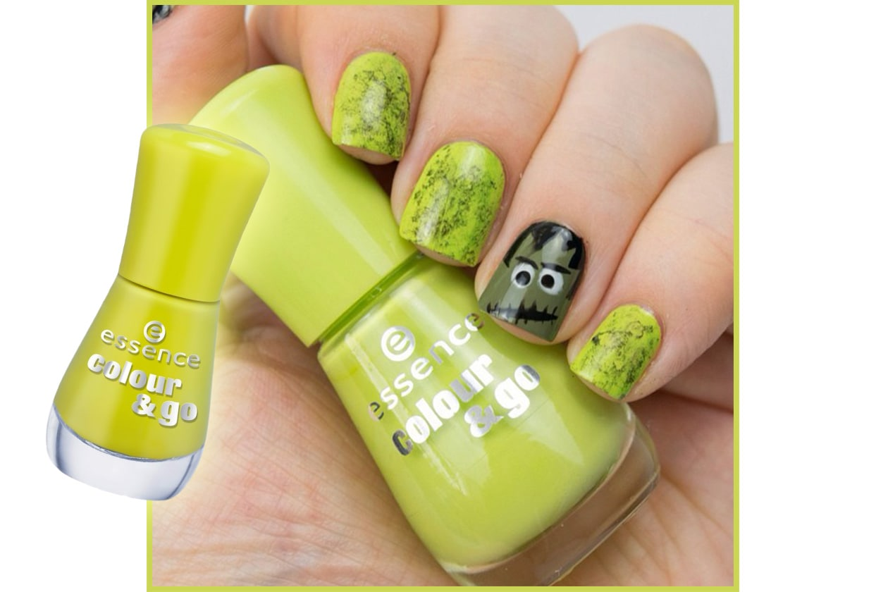 Spooky nails: zombie manicure