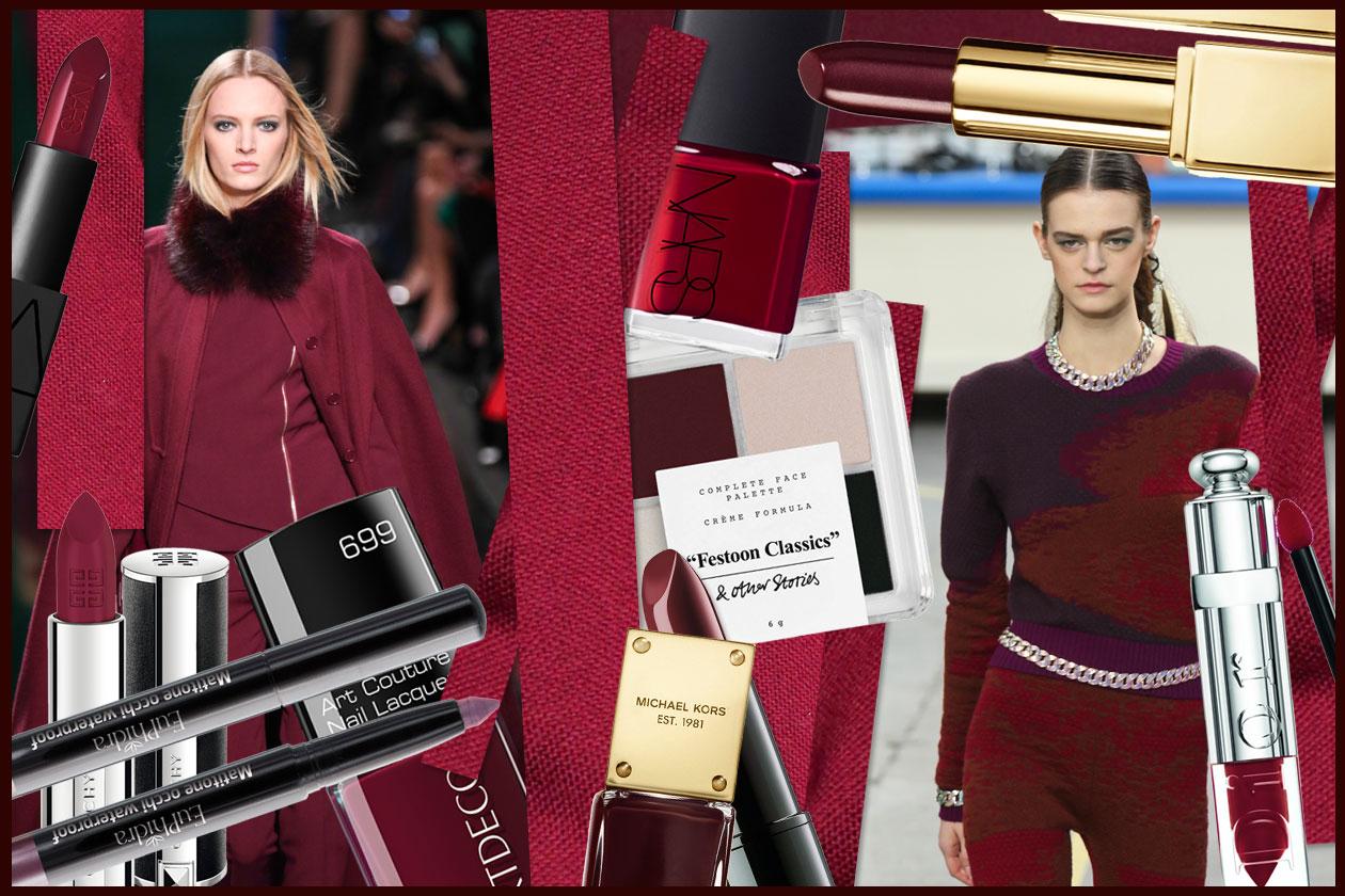 Trucco e vestiti bordeaux per l'inverno 2015: gli abbinamenti beauty&fashion