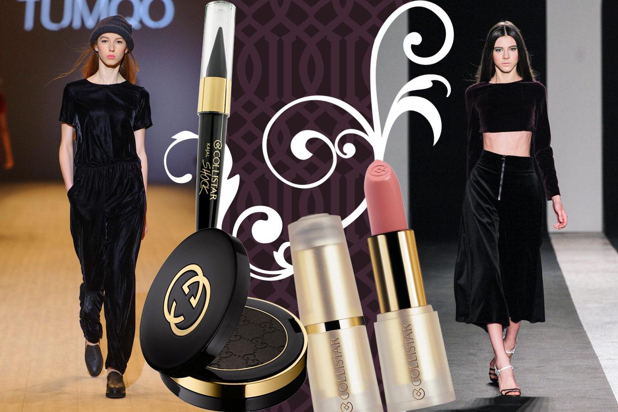 Velluti e broccati: gli abbinamenti beauty&fashion – BLACK VELVET 01