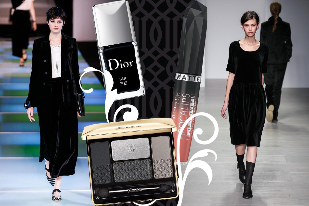Velluti e broccati: gli abbinamenti beauty&fashion – BLACK VELVET 02
