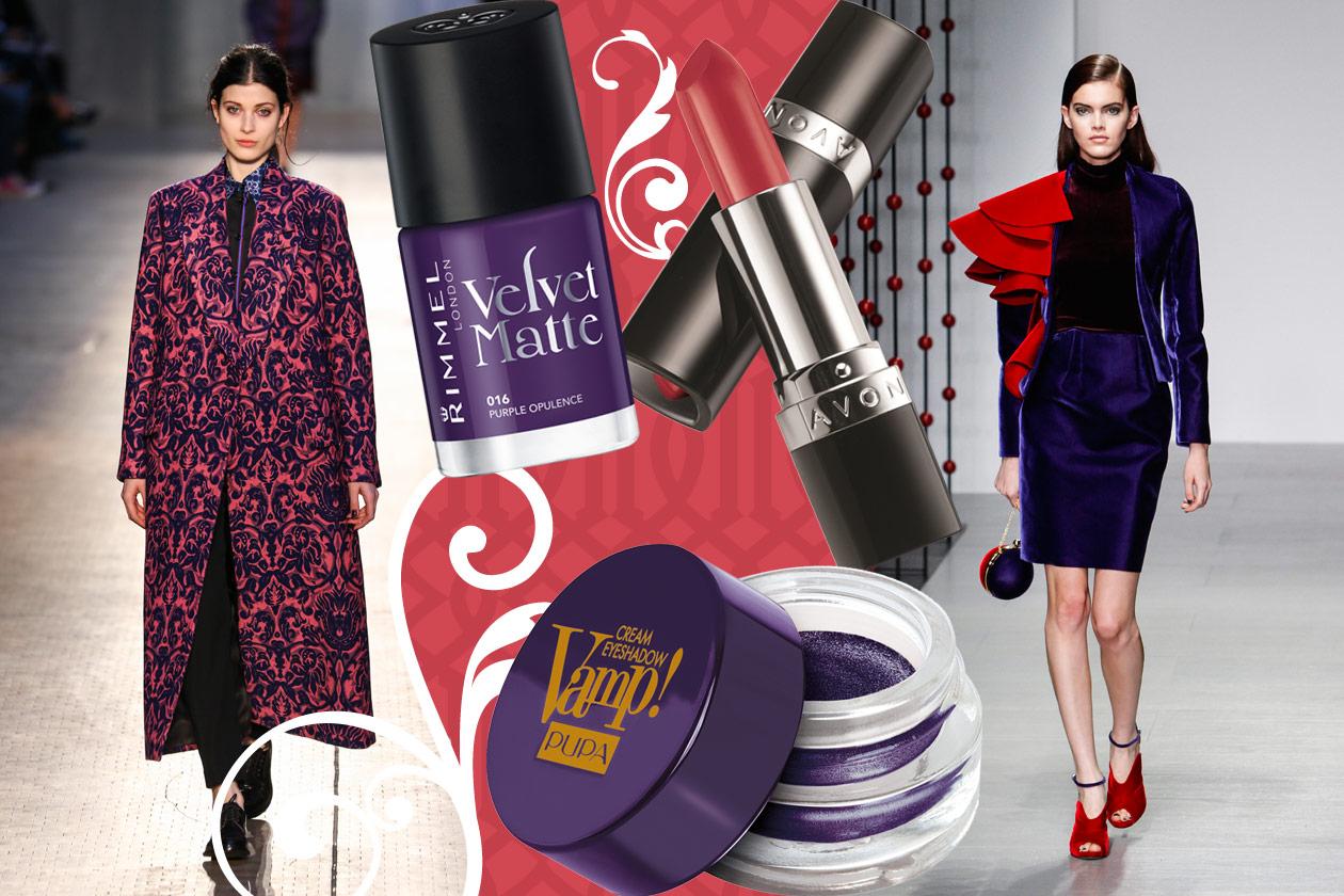 Velluti e broccati: gli abbinamenti beauty&fashion – PURPLE & RED VELVET