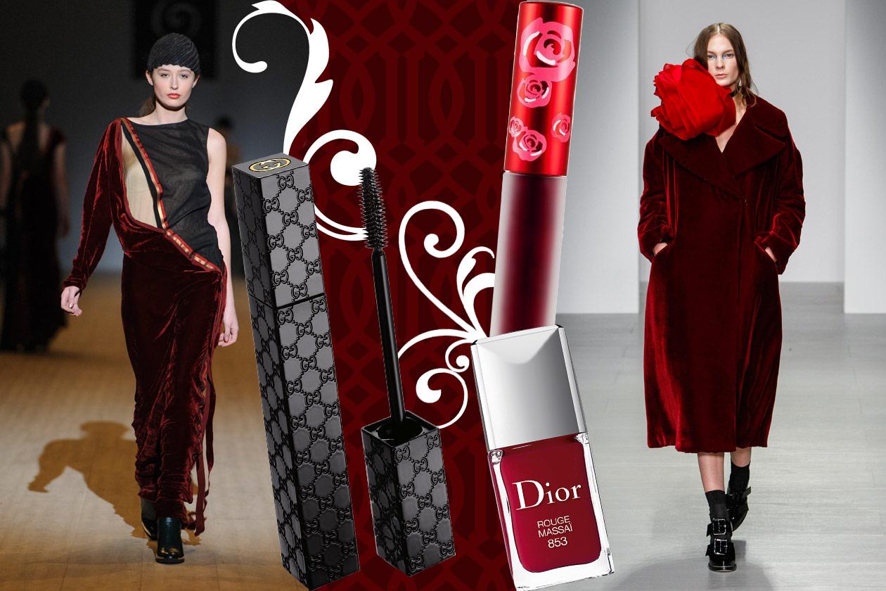Velluti e broccati: gli abbinamenti beauty&fashion – RED VELVET 01
