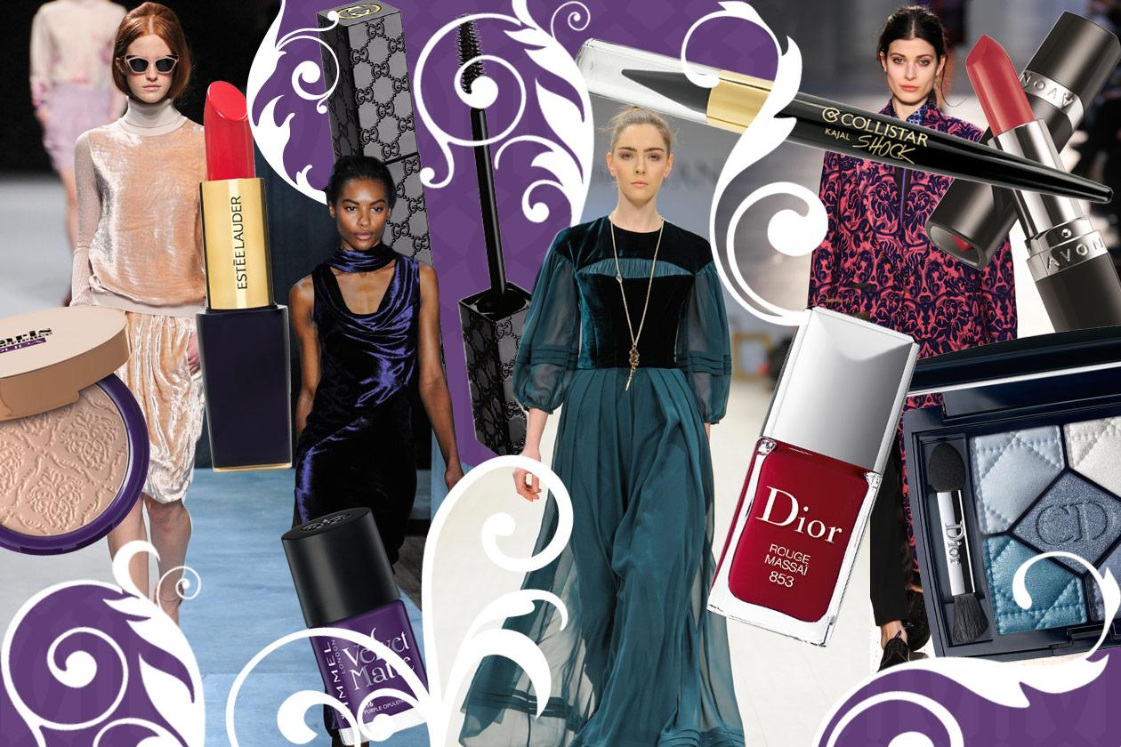 Velluti e broccati: gli abbinamenti beauty&fashion
